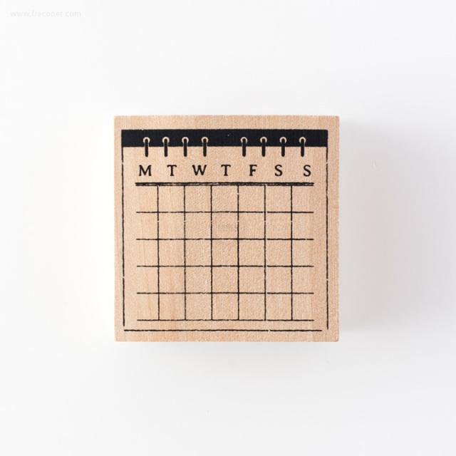 手帳スタンプ 月間カレンダー(FMK0947)【ネコポスOK】
