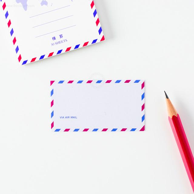 すごく小さいエアメール洋形封筒ミニ(FM-Y206)【クロネコDM便OK】