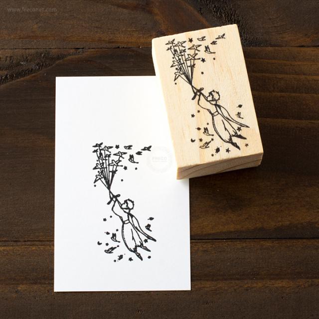 星の王子さまスタンプ 鳥(FS1639)【ネコポスOK】