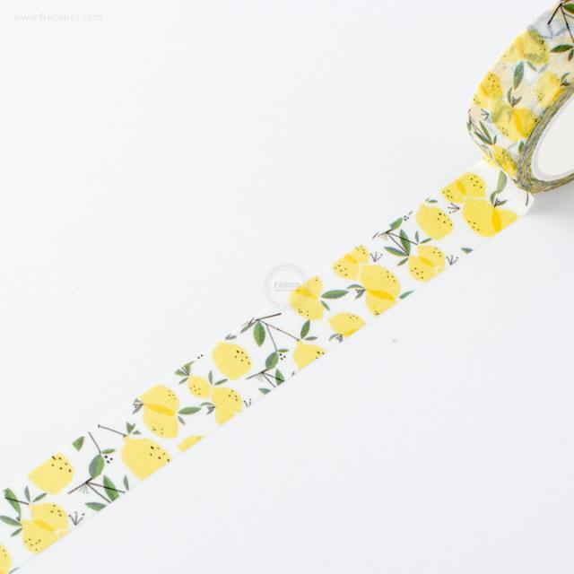 水彩フルーツマスキングテープ レモン【ネコポスOK】