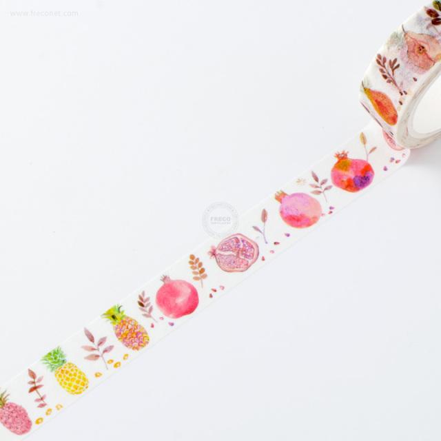 水彩フルーツマスキングテープ ザクロ【ネコポスOK】