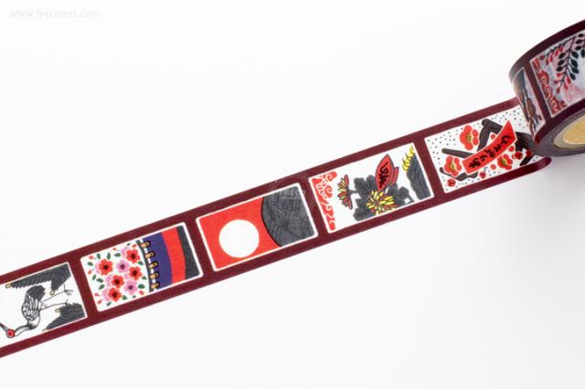 ふわりマスキングテープ 花札(FW47014)【ネコポスOK】