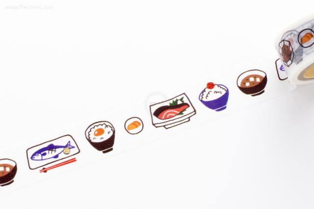 ふわりマスキングテープ 和食(FW47020)【ネコポスOK】