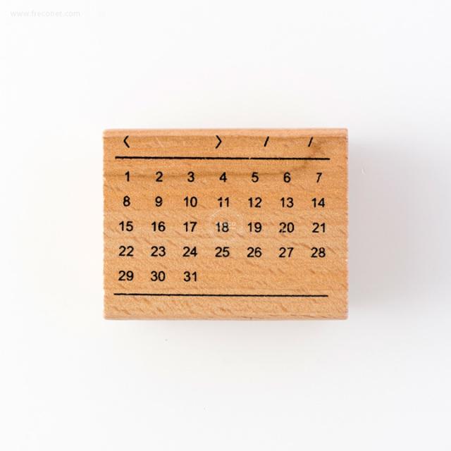 手帳スタンプ フリーカレンダー(FYZ4940)【ネコポスOK】