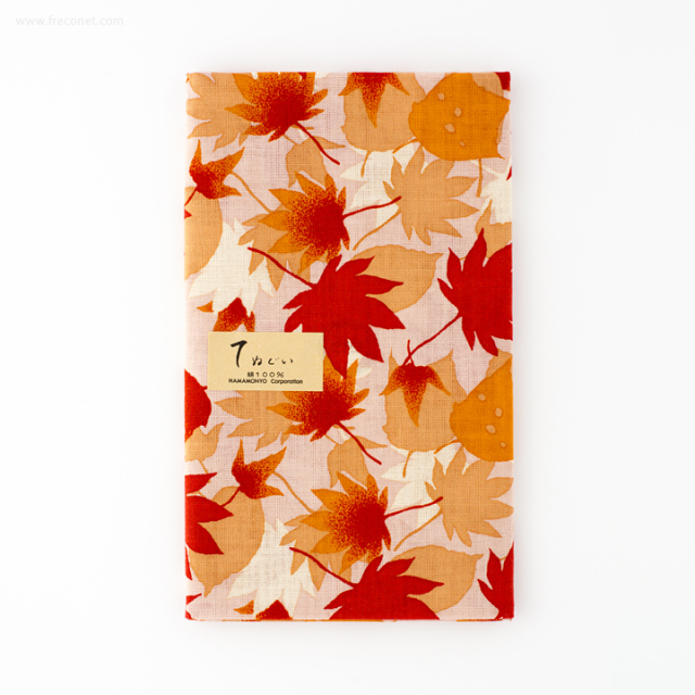 濱文様 捺染てぬぐい 紅葉のじゅうたん(12575)【ネコポスOK】