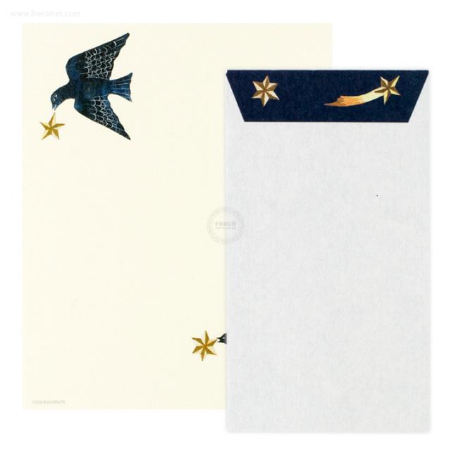 西淑レターセット bird(23-884-400)【ネコポスOK】