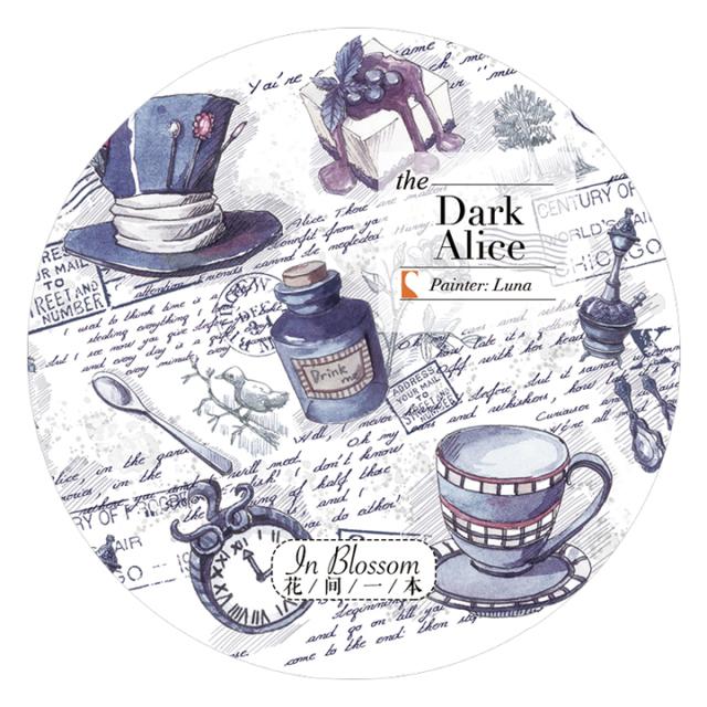 《ご予約商品・12月入荷予定》花間一本マスキングテープ Dark Alice【宅急便配送】