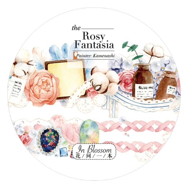 《ご予約商品・12月入荷予定》花間一本マスキングテープ Rosy Fantasia【宅急便配送】