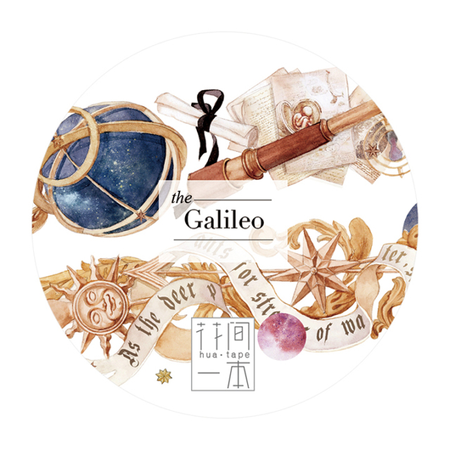 《ご予約商品・12月入荷予定》花間一本マスキングテープ Galileo【宅急便配送】