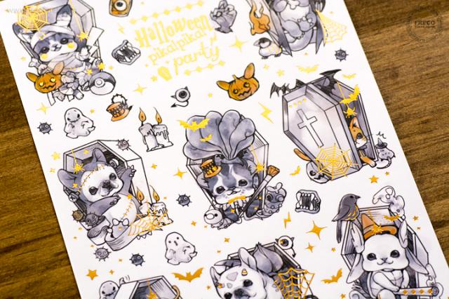 ★HW限定品★ 妍希 C.C Halloween PIKA party フリーカットステッカー【ネコポスOK】