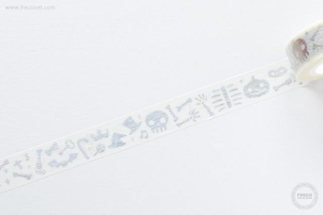 ★HW限定柄★ 妍希 C.Cマスキングテープ Halloween KALA 人骨拼圖【ネコポスOK】