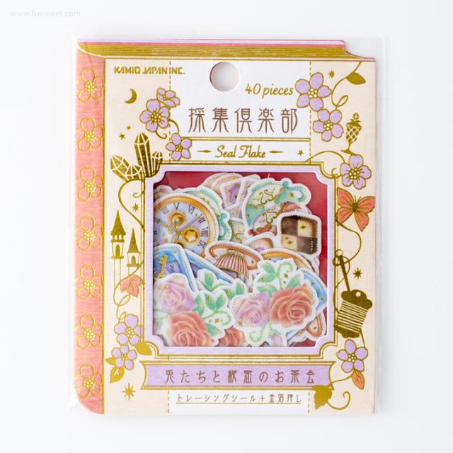 採集倶楽部フレークシール 兎たちと秘密のお茶会(21852)【ネコポスOK】