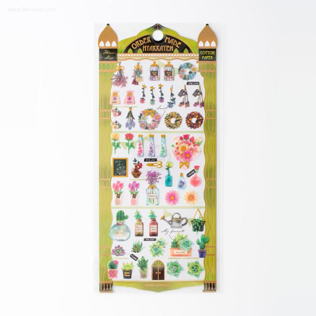 オーダーメイド百貨店シール フラワーショップ(23756)【ネコポスOK】