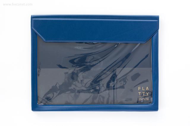 キングジム FLATTY フラッティ A5サイズ ネイビー(5364)【ネコポスOK】