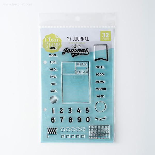 手帳スタンプ こどものかお クリアスタンプシートT MY JOURNAL(0980-022)【ネコポスOK】