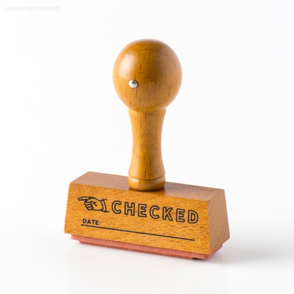 手帳スタンプ こどものかお ハンドルスタンプ CHECKED(1641-008)【ネコポスOK】