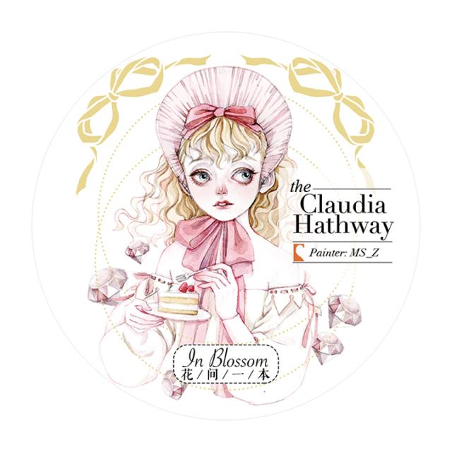 《ご予約商品・12月入荷予定》花間一本マスキングテープ Claudia Hathway / ピンクゴールド箔【宅急便配送】