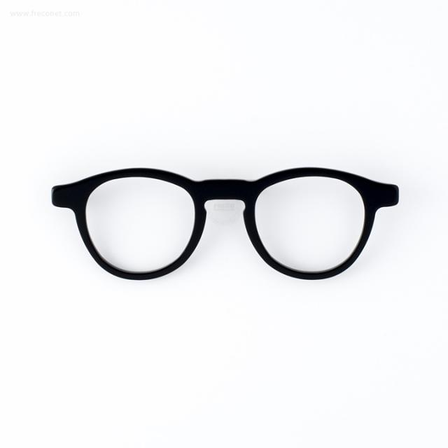 メガネのブローチ 黒ぶち【ネコポスOK】