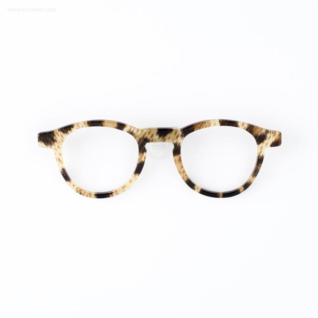 メガネのブローチ べっこう【ネコポスOK】