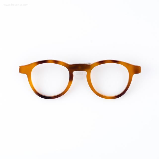 メガネのブローチ あめいろ【ネコポスOK】