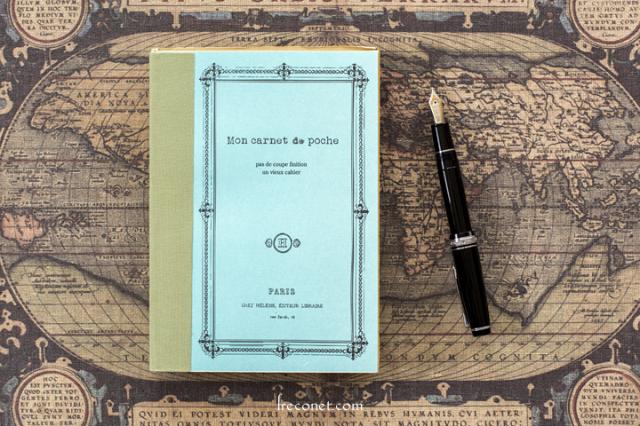 ラフノートブック B6 ダイアリーノート ブルー/グリーン(KPBS1200A)【ネコポスOK】