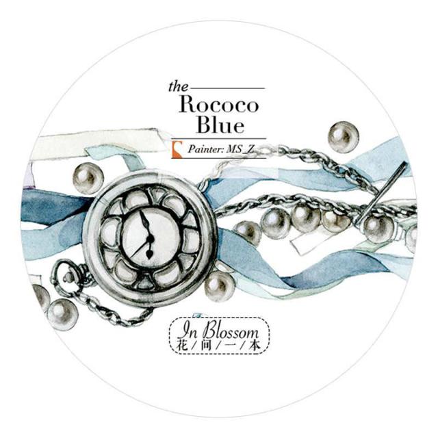 《ご予約商品・12月入荷予定》花間一本マスキングテープ Rococo Blue【宅急便配送】