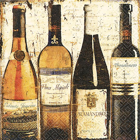 Paper+Design ペーパーナプキン <ランチ> Degustation de vin(LN0851)【ネコポスOK】