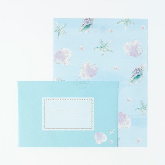 ルアナレターセット シェル(LNLS01-BL)【ネコポスOK】