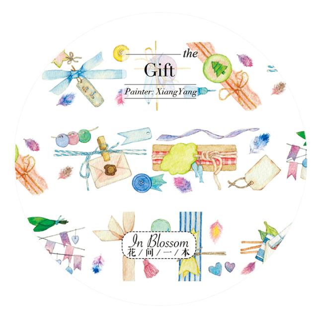 《ご予約商品・12月入荷予定》花間一本マスキングテープ Gift【宅急便配送】