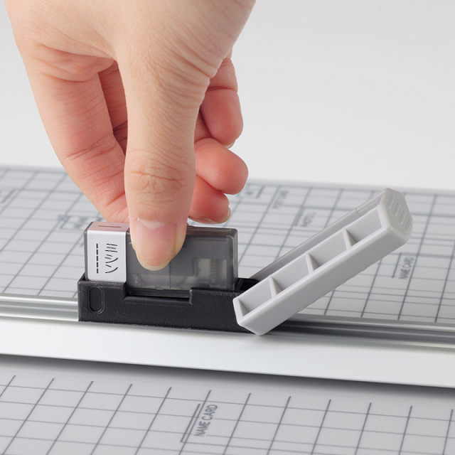 LIHIT LAB コンパクトスライドカッター専用替刃 ミシン刃 2枚入(M-44)【ネコポスOK】