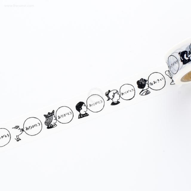 BUBBLE GUMマスキングテープ White(MACMT-1)【ネコポスOK】