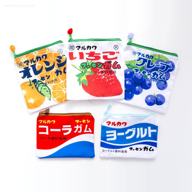 マーブルガムと角ガムのポーチ 5柄セット【ネコポスOK】