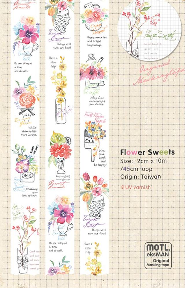 《予約受付中・1月入荷予定》MotL.マスキングテープ Flower Sweets【ネコポスOK】