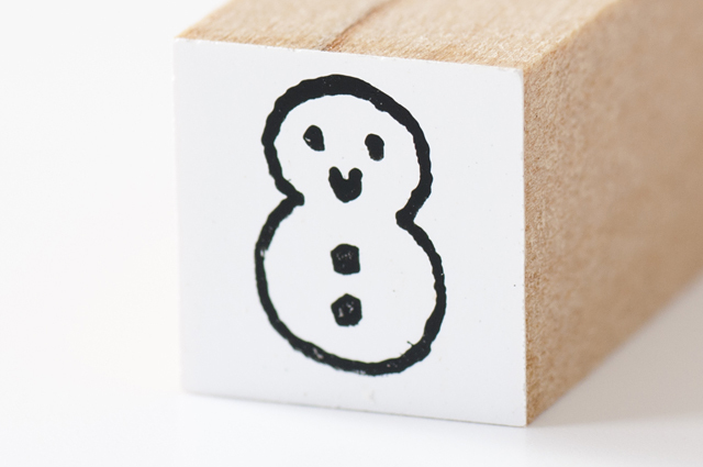 moda クリスマススタンプ(ちび)雪だるま(MS-5145)【メール便OK】