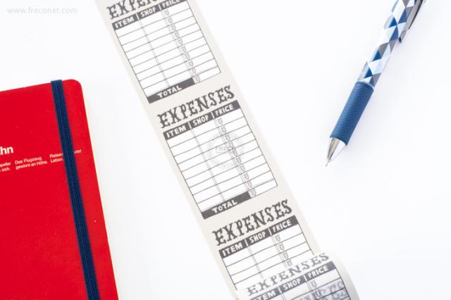 maste ライフログ用マスキングテープ EXPENSES(MST-FA02-H)【宅急便配送】