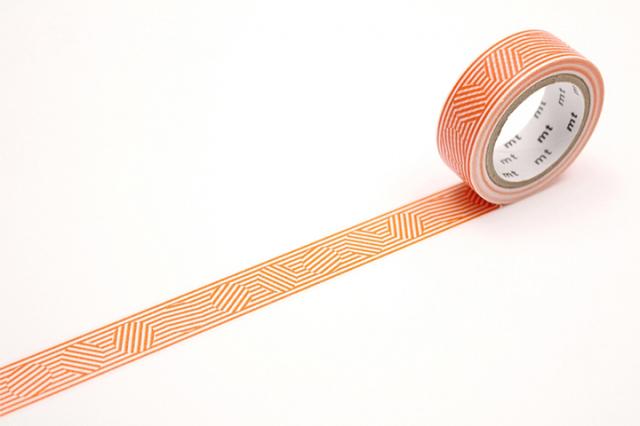 mt DECO ボーダー&サークル・オレンジ(MT01D436)【ネコポスOK】