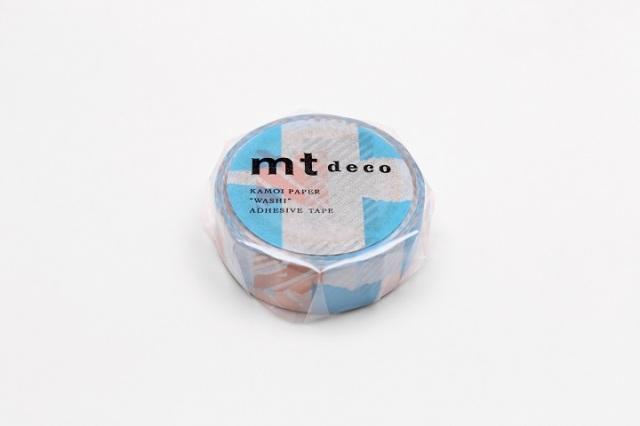 《予約受付中・3月上旬再入荷予定》mt DECO つぎはぎ ブルー×ピンク(MT01D445)【ネコポスOK】