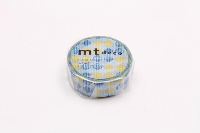 《予約受付中・3月上旬再入荷予定》mt DECO チェッカーズストライプ ブルー(MT01D454)【ネコポスOK】