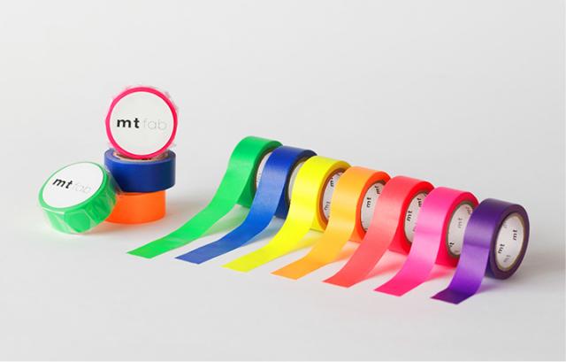 mt 2018SS/mt fab 蛍光インキテープ(全7色)【ネコポスOK】