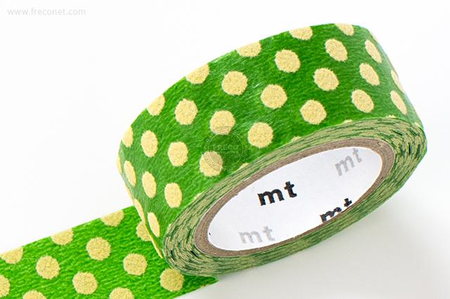 mt fab フロッキー ドット グリーン×クリーム(MTFL1P05)【メール便OK】