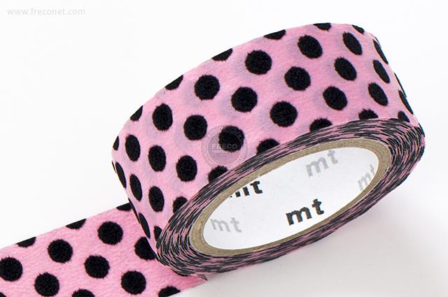 mt fab フロッキー ドット ピンク×ブラック(MTFL1P06)【メール便OK】