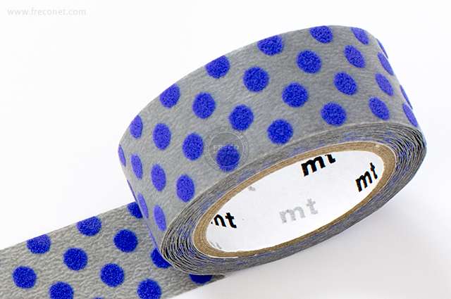 mt fab フロッキー ドット ライトグレー×ブルー(MTFL1P11)【メール便OK】