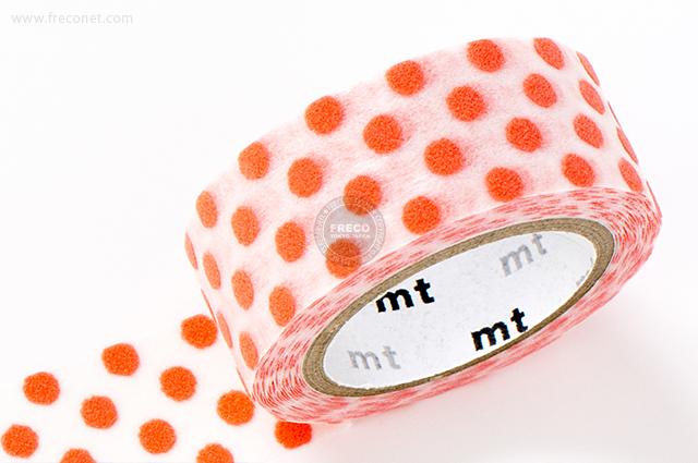 mt fab フロッキー ドット オレンジ(MTFL1P12)【メール便OK】