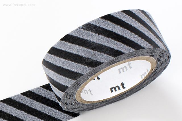 mt fab フロッキー ストライプ ブラック×グレー(MTFL1P14)【ネコポスOK】