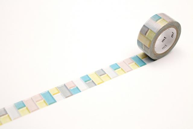 mt fabパールテープ タイル・パステル(MTPL1P06)【ネコポスOK】