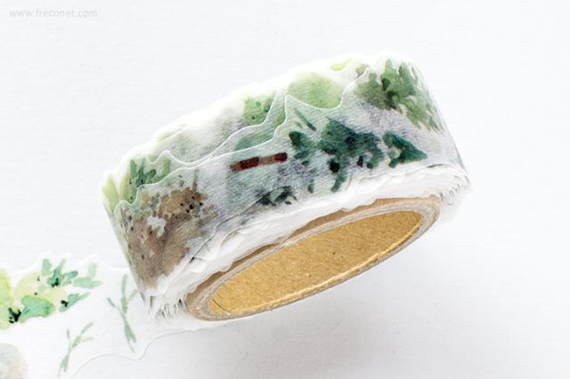 黒夢蝶マスキングテープ 植林(403)【ネコポスOK】