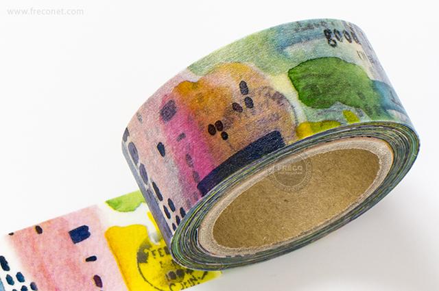 小徑文化×染セン插畫マスキングテープ 斑ラン(MTW-AJ004)*日本製【ネコポスOK】