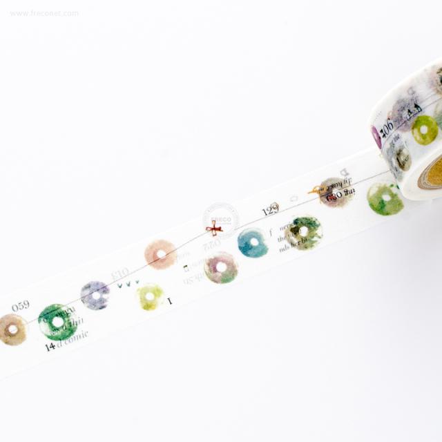 小徑文化×夏米花園マスキングテープ 5th Anniversary 記録 record(MTW-CH270)【ネコポスOK】