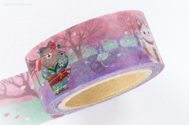 小徑文化 x 插畫家聯名系列マスキングテープ(MTW-DF004)【ネコポスOK】