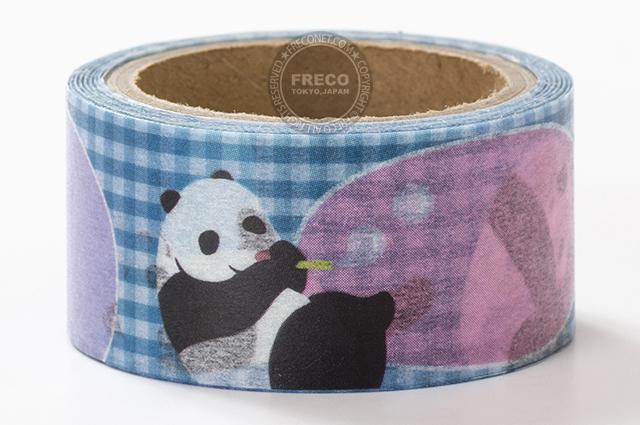 小徑文化×溪邊的樹マスキングテープ 熊猫泡泡(MTW-PU004)*日本製【メール便OK】